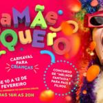 Maringá terá bailinho de carnaval e concurso de fantasia de graça para as crianças